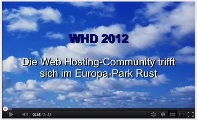WebHostingDays WHD 2012 Europa-Park Rust Cloud Computing TV