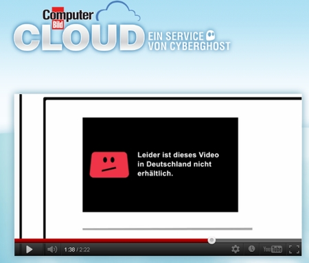 COMPUTER BILD-Cloud, gesperrte YouTube-Videos